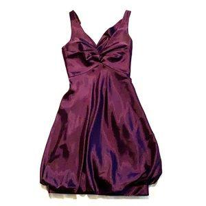 Purple cocktail Jess. McCl. Silk dress w/ cut out